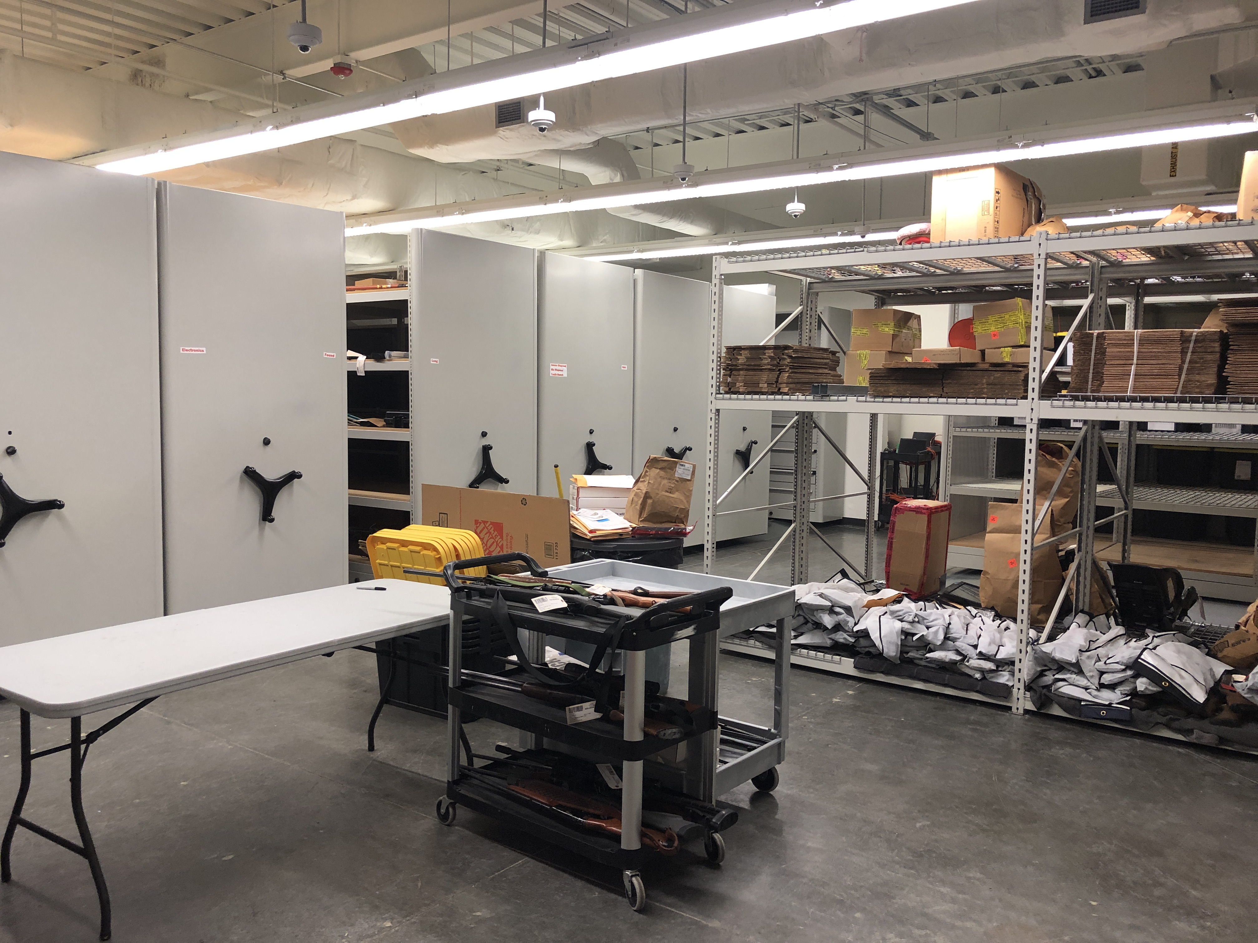 Sheriff's Office evidence storage facility