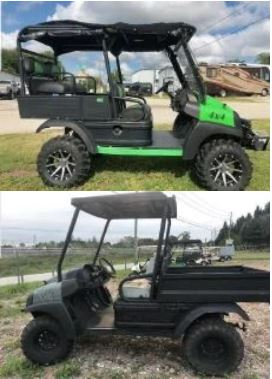 Pictures of stolen golf carts